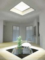 1階中央に太陽光照明が届くシミュレーション写真